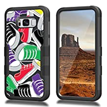 Galaxy S8 Case, CASECREATOR[TM] For Samsung Galaxy S8/G950 ()~NATURAL TUFF Hybrid Rubber Hard Case BB-Classic Sneakers