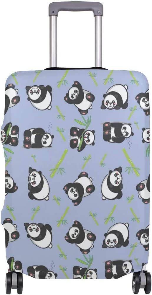 MALPLENA Cartoon Cute Panda Bamboo Luggage Protector Suitcase Cover