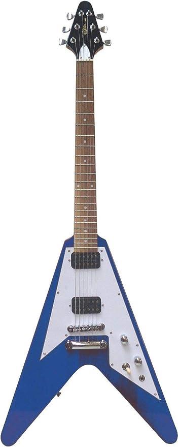 Guitarra eléctrica Flying V azul: Amazon.es: Instrumentos musicales