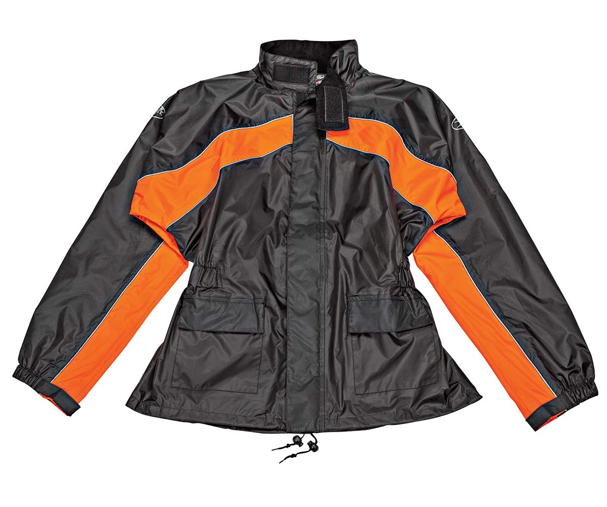 Black//Hi-Viz, Large Joe Rocket RS-2 Mens Motorcycle Rain Suit