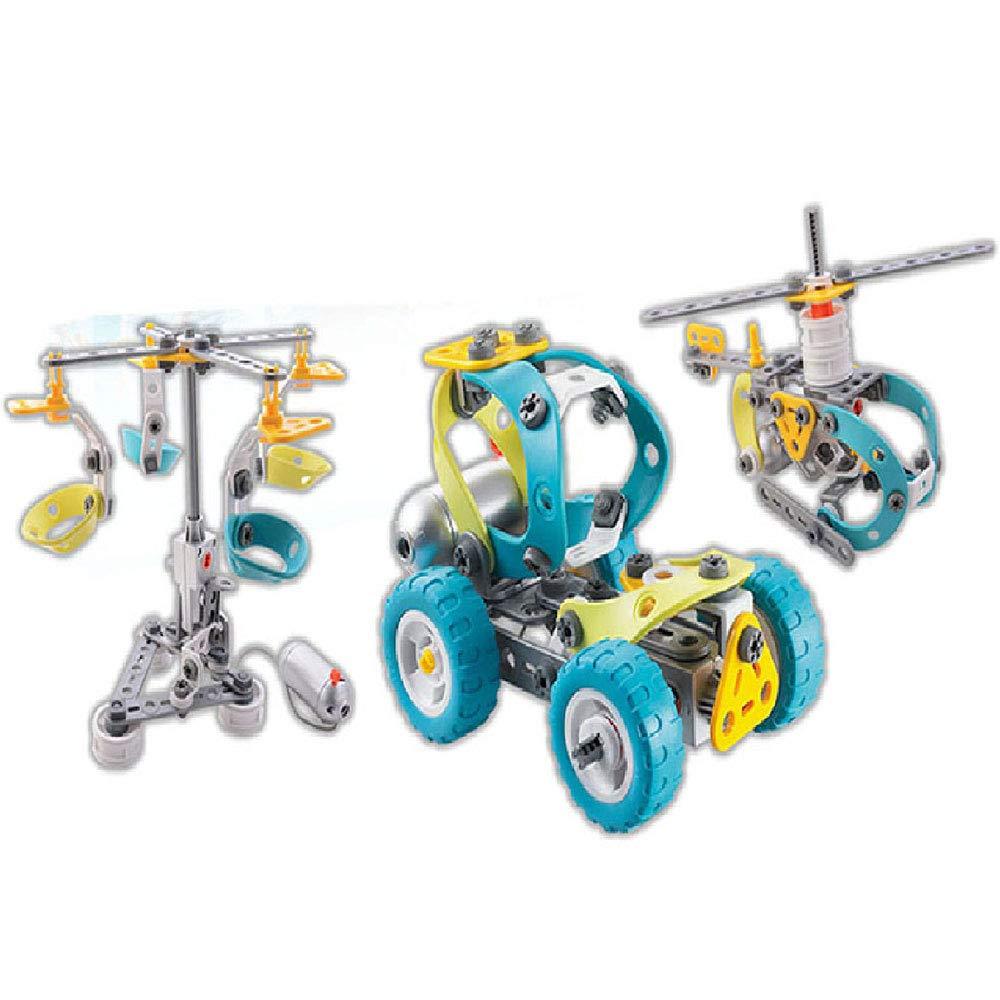 ILYO 10 In 1 Bauspielzeug Set Bausteine Kreativer Elektromotorwagen Für Kinder Ab 3 Jahren