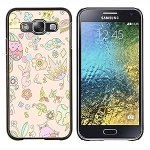 YiPhone /// Prima de resorte delgada de la cubierta del caso de Shell Armor - florales niños nube de ratón del arte de los niños - Samsung Galaxy E5 E500