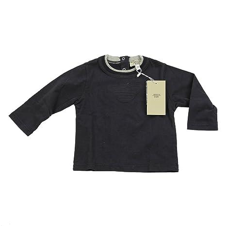 Armani bebé Boy Top Manga Larga T shirt Cuello Redondo 100 ...