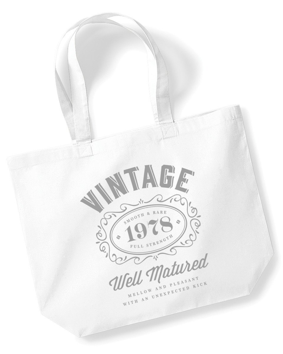 40th Birthday, 1978 Keepsake, Funny Gift, For Women, Ladies Novelty Gifts, Female Shopping Bag, Present, Tote Bag, Gift Idea (Black) Design Invent Print!