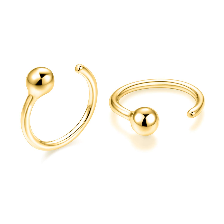 WINNICACA Gold Small Higgue Hoop Cartilage Earrings Sterling Silver 14g Nose Rings Piercing Body Jewelry for Women Girls Gifts by WINNICACA
