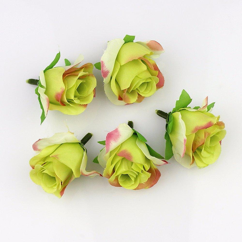 Amazon.com: Artificial silk Rose flower Head Scrapbooking Flowers ...