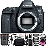 "Canon EOS 6D Mark II DSLR Camera with Canon EF 24-70mm f/2.8L II USM Lens - International Version (No Warranty) Includes 3PC Filter Kit + Full-Size 72"" Tripod + Medium Carrying Case & More!"