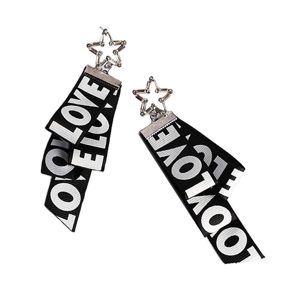 KTYX Korean Version of The Letter Black Ribbon Necklace Short Paragraph Wild 6 1.5cm Jewelry