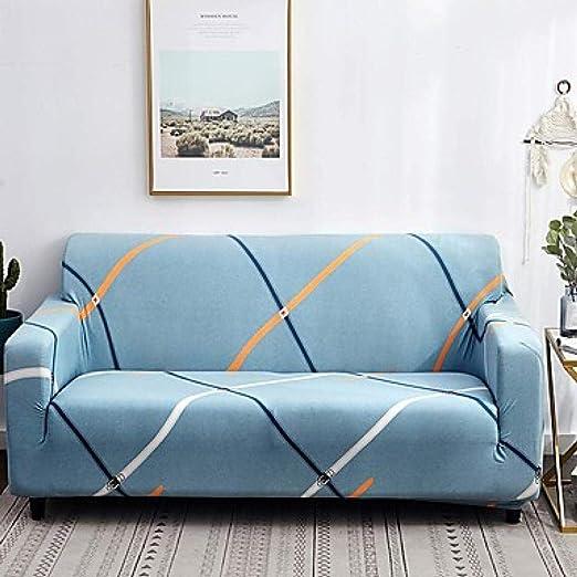 El sofá tiene una funda elástica larga, estampado floral ...
