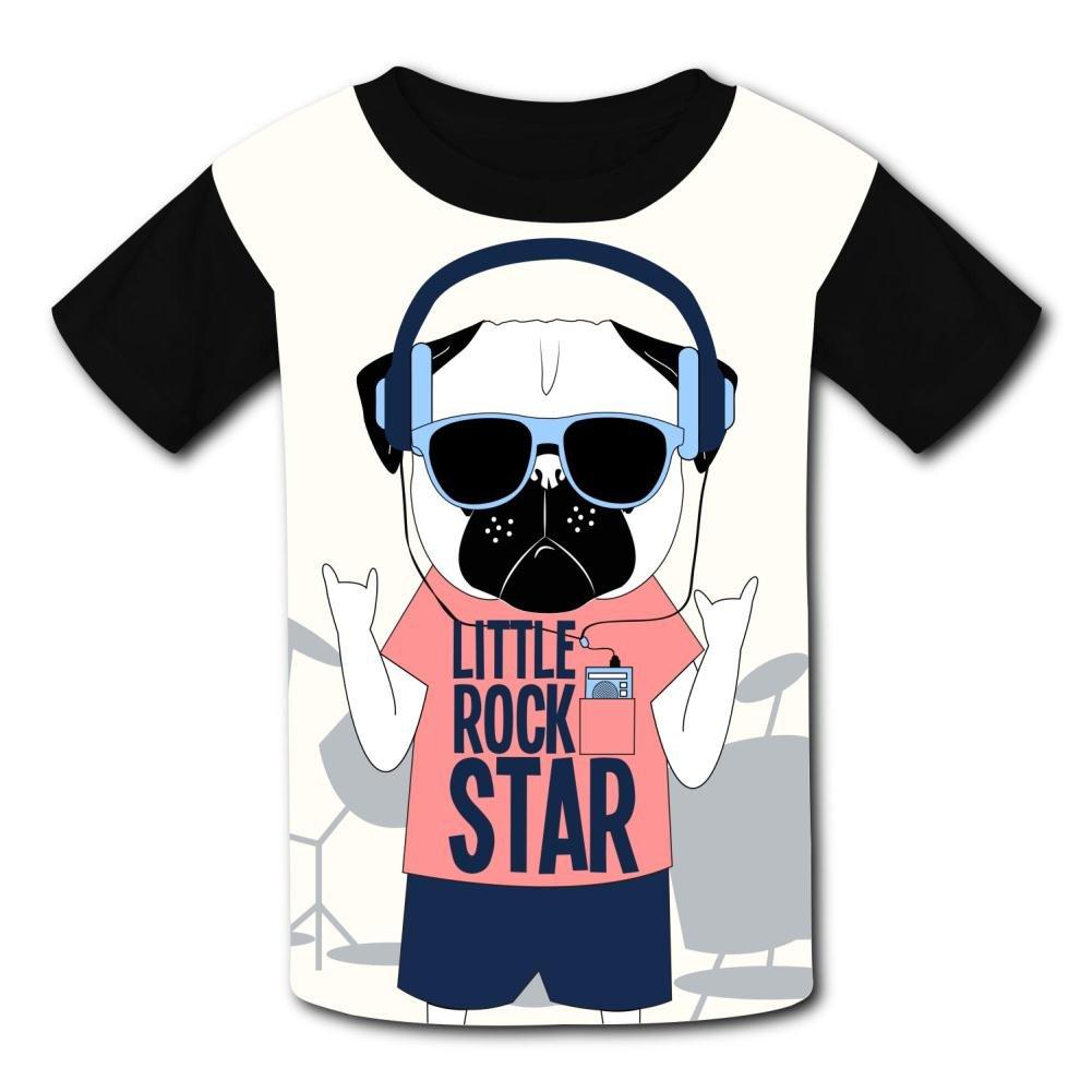 riverccc6.1500 Music Dog Little Rock Star Youth T-Shirt Boys Girls Tee