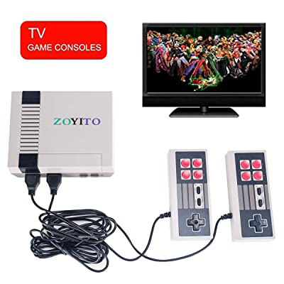 SITENP Classic Mini Game Console Classic Game Console Built-in 600 Game Video Game Console 8-bit and Two Control Handles Bring You Happy Childhood Memories (AV Out Game Console): Toys & Games
