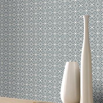 New Rasch Tapete Retro Geometrische Design Muster Weiß U0026 Grau