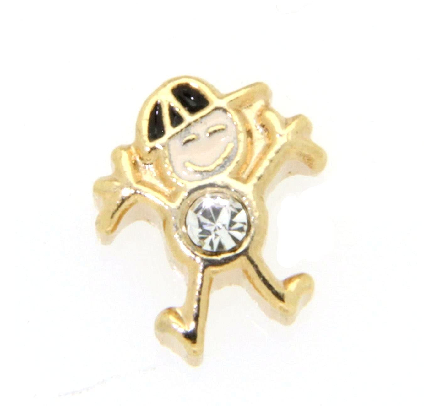 April Birth Month Boy Charm for Floating Lockets Clearly Charming 010-013-010-0148