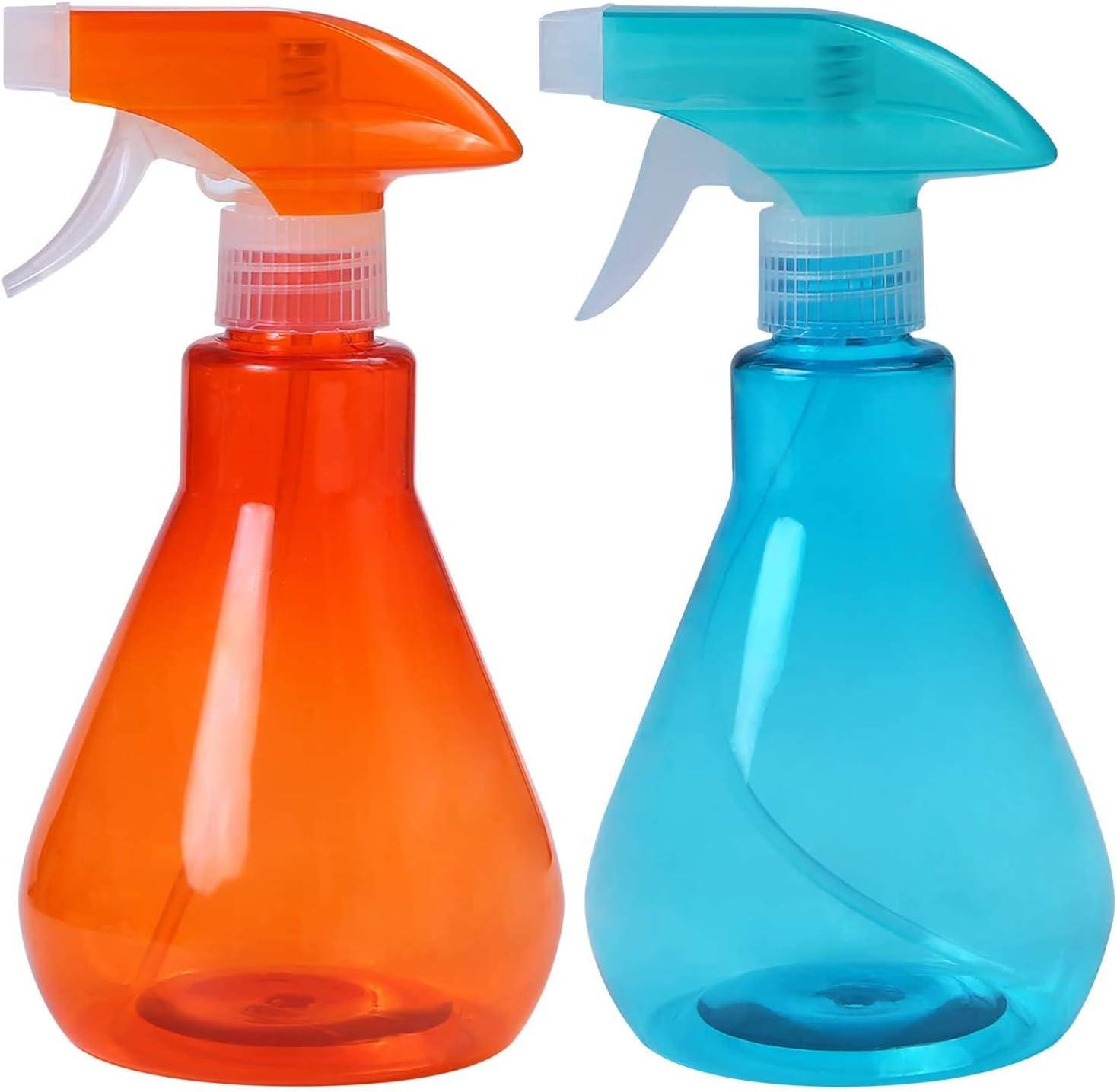 bleu + vert 500 ml PANGHU Bouteilles de pulv/érisation de brouillard 2 pi/èces Bouteilles en plastique vides D/éclencheur Pulv/érisateur pour le nettoyage le jardinage lalimentation