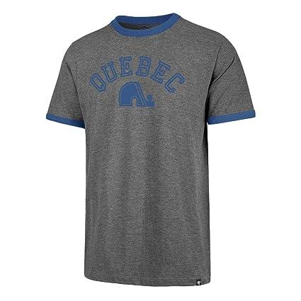 20c669ccb Amazon.com    47 Quebec Nordiques Vintage NHL Capital Ringer T-Shirt ...