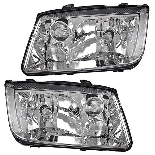 Driver and Passenger Headlights Headlamps Replacement for Volkswagen 1J5941017AJ 1J5941018AJ AutoAndArt (Assembly Jetta 2000 Headlight Vw)