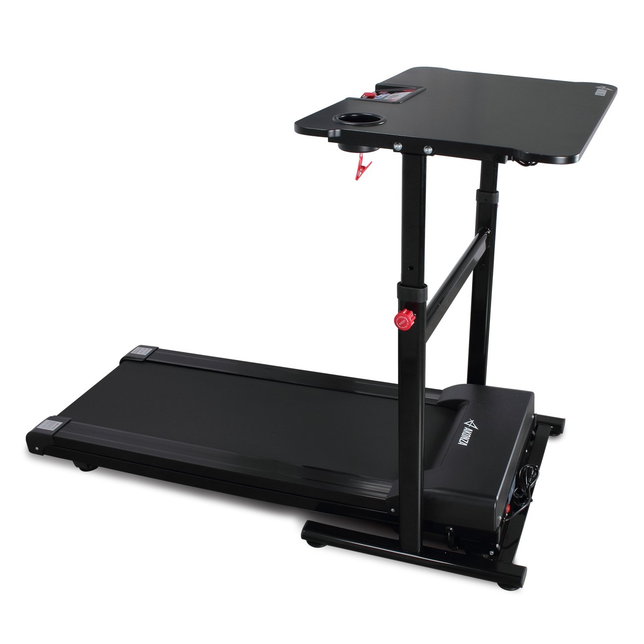 AKONZA 1.25 Peak HP Electric Standing Walking Treadmill Desk Workstation w/Tabletop Adjustable Height for Home & Office by AKONZA