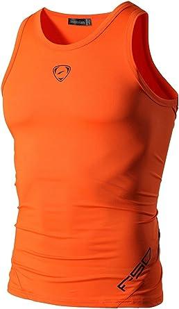Camisa sin Mangas técnica de compresión para Hombre. Ropa ...