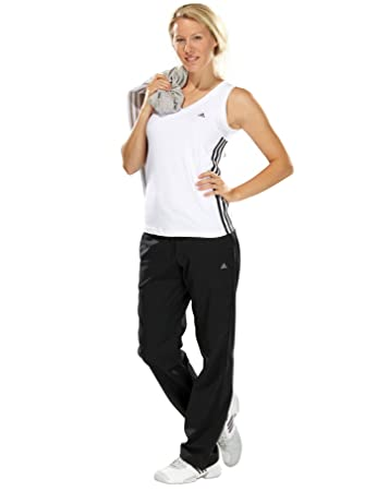 adidas Damen Trainingshose Clima 3S Stretch black 38S