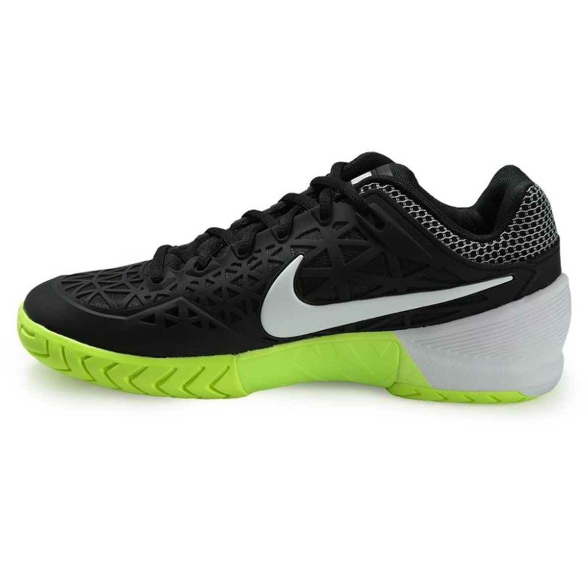 uk availability 36349 e8597 Amazon.com   Nike Zoom Cage 2 Black White Volt Women s Tennis Shoes   Shoes