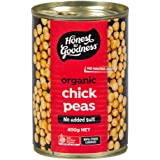 Honest to Goodness Organic Chickpeas - BPA Free (Cooked), 400g