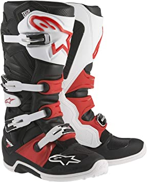 Alpinestars Tech 7 Boots BlackWhiteRed 6