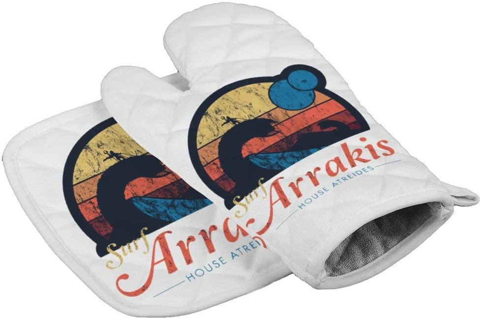 LijiahuaMitts Dune - Sci Fi Heat Resistant Oven Mitts and Pot Holders,Safe Kitchen Cooking Baking Grilling