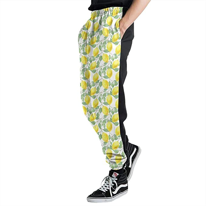 Wangfone Classic Fit Mens Crazy My Hero Academia 3D Print Sweatpants Pocketed Waistband Sportstyle