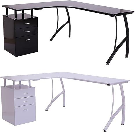 Genérico en forma de L para mesa de estudio en esquina, mesa de ...