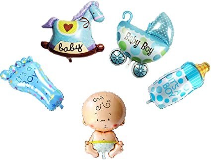 Bebé Niña Niño Helio Globos De Papel De Aluminio Enorme Nuevo Baby Shower Bautizo Cumpleaños