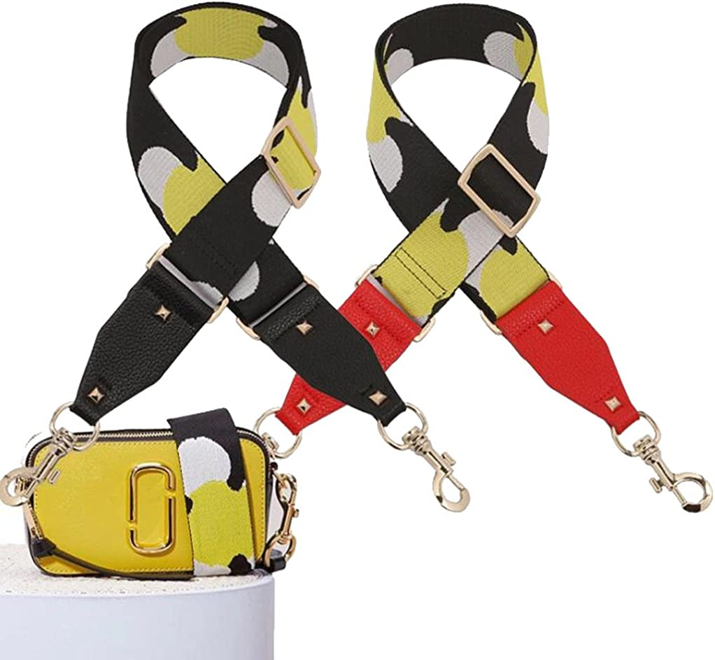 Adjustable Handbag Strap Replacement Guitar Style Canvas 92cm-138cm Crossbody Strap for Handbags