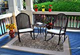 Outdoor Patio Rocking Chair Garden Set with Cushions - Front Porch Rockers