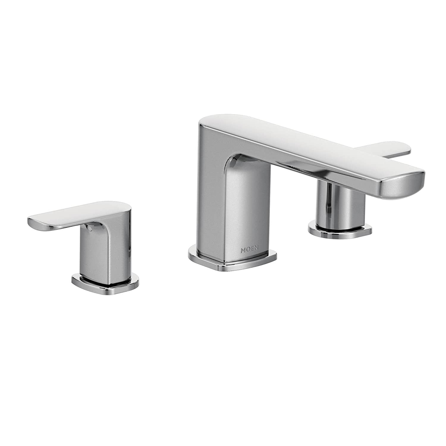 Moen T935 Rizon Two-Handle Low Arc Roman Tub Faucet Trim without ...
