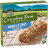 Cascadian Farm Organic Vanilla Chip Chewy Granola Bars 6 count (Pack of 5)