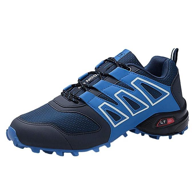 Zapatos de Senderismo Hombres Impermeable de Malla Hombres Zapatos de montaña para Paseos Viajes Zapatos de Trekking Botas de Trekking de Cuero de Escalada ...