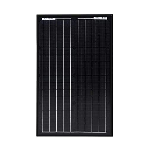 front facing Renogy 30 Watt 12 Volt Monocrystalline Solar Panel