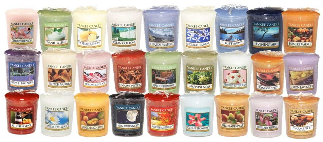 Yankee candle 18 x mixed fragrance sampler votives ebay for Different brands of candles