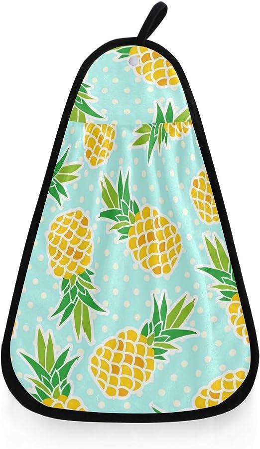 Linomo Serviette suspendue mignonne motif ananas absorbante s/èche rapide gant de toilette torchon pour cuisine salle de bain salon d/écor