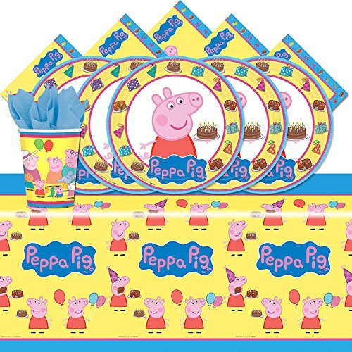 amscan Peppa The Pig Party Pack for 16 -
