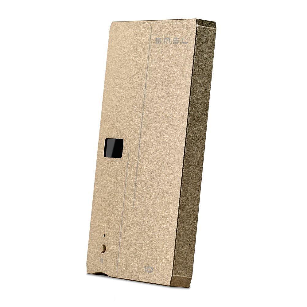 S.M.S.L IQ ポータブルヘッドホンアンプ HIFI 高性能 ハイレゾ対応 ヘッドフォン アンプ 高性能DAC内蔵/OLEDディスプレイ/バランスアンバランス出力端子付き ポータブル オーディオ USB DAC ゴールド  金 B078X8TVJH