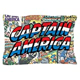 CafePress - Captain America - Standard Size Pillow Case, 20''x30'' Pillow Cover, Unique Pillow Slip