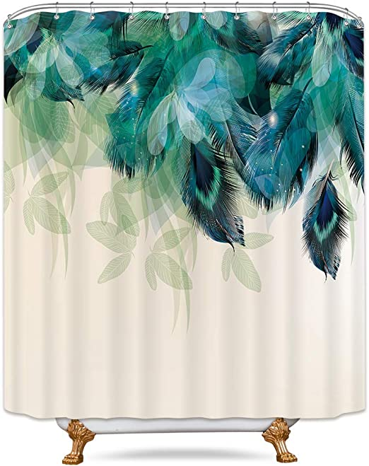 My Daily Camping Watercolor Landscape Shower Curtain 60 x 72 Inch Waterproof Polyester Bathroom Decor with Hooks