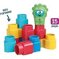 Brinquedo para Montar Fofo Blocos 15 Peças, Elka, Multicor