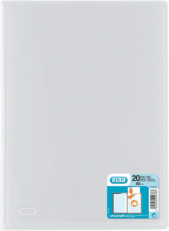 20 H/üllen farblos PP 0 aufgeschwei/ßte Visitenkartentasche DIN A4 5 mm Elba 100206061 Sichtbuch hawai