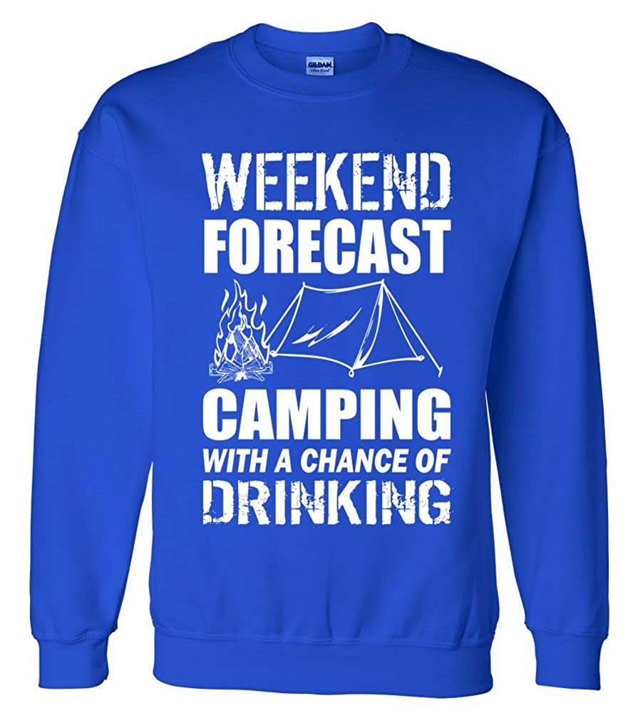 Weekend Forecast Camping With A Chance Of Drinking TeeShirtPalace Sweater
