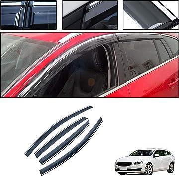 saitake Windabweiser F/ür Volvo XC60 2009-2017 Autofenster Visier Sonne Regen Rauchabzug Schatten Klebeband Au/ßenvisiere