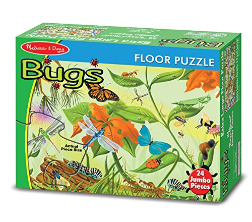 24-piece Fun and Educational Insect, Bugs and Butterflies Cardboard Floor Puzzle - Ages 3+