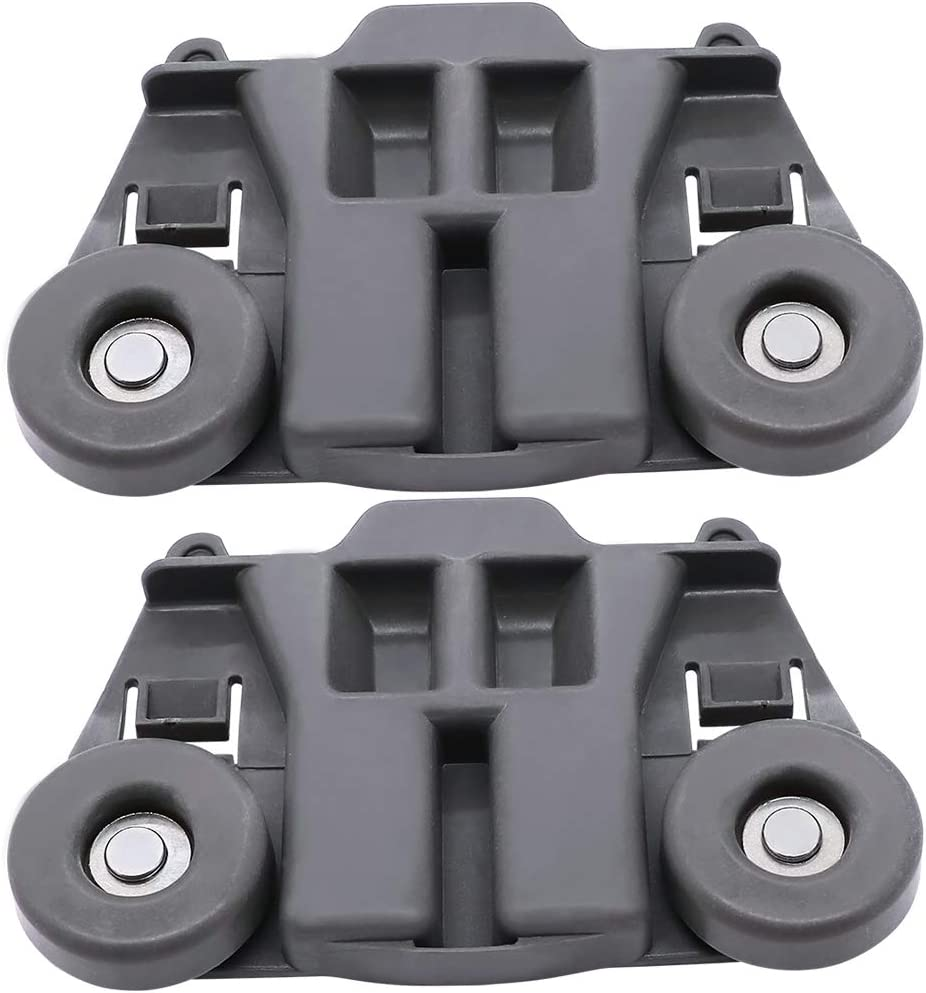 Upgraded Dishwasher Lower Dish Rack Roller Assembly W10195417V(2 Pack) By Primeswift New Replacement for Kenmore Whirlpool WPW10195417VP PS11750057