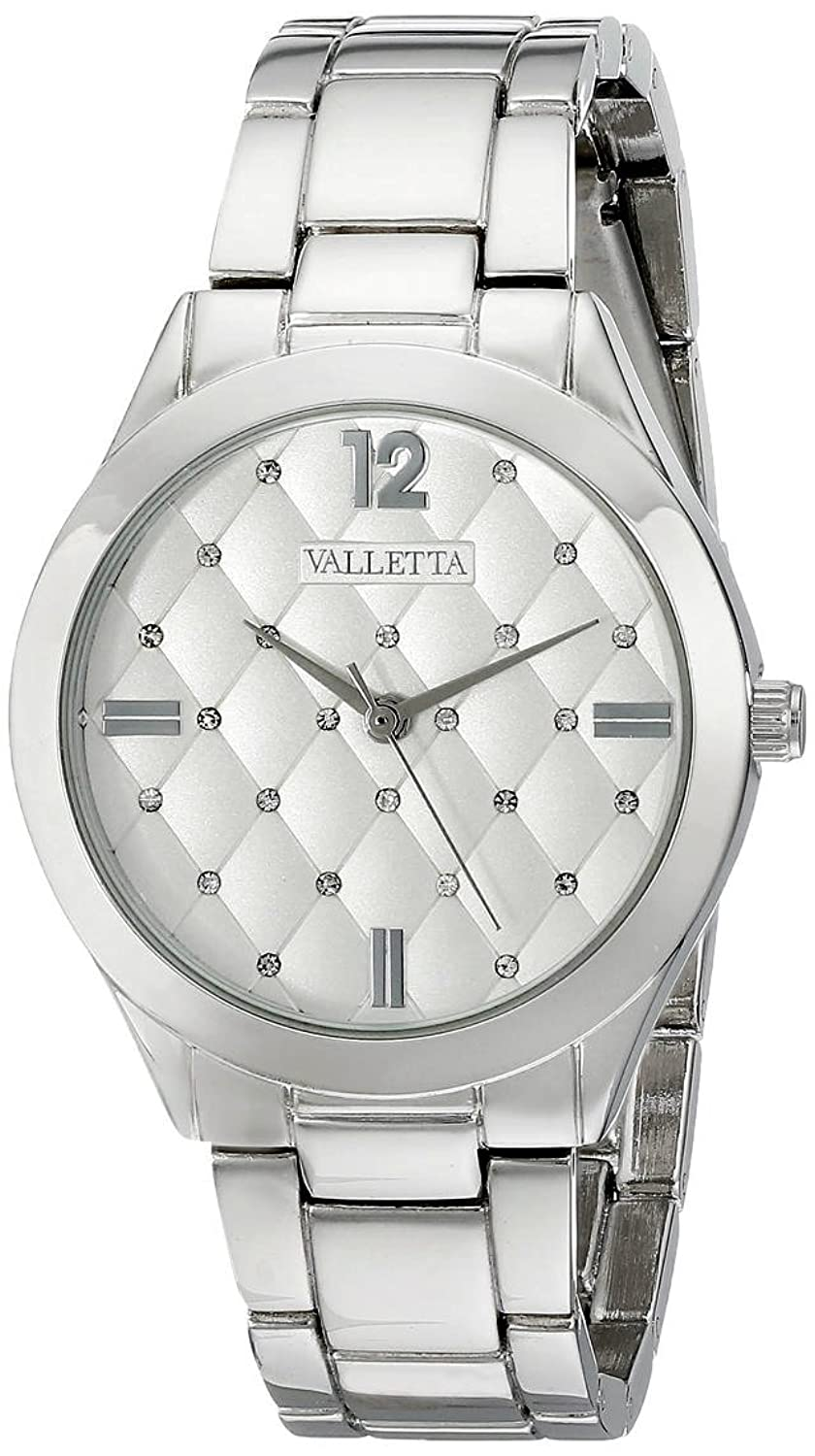 Amazon.com: Valletta Womens FMDCT502A Silver-Tone Watch with Link Bracelet: Watches