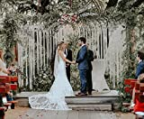 Large Macrame Wedding Garland Customizable by Width. Backdrop for Decor at Indoor or Outdoor Ceremonies.